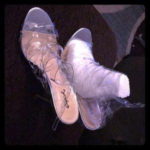 Qupid clear heels